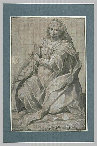 Sainte Catherine d'Alexandrie une palme dans la main