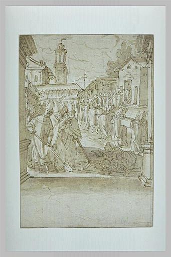 Invention des corps des saints Gervais et Protais par saint Ambroise