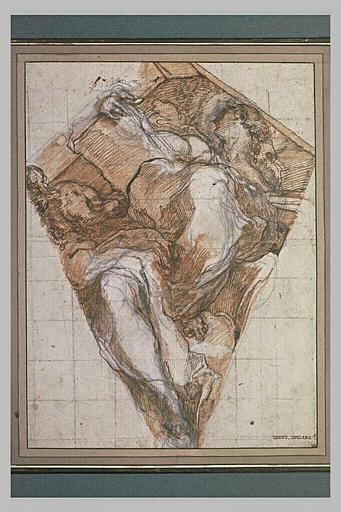 Saint Jean l'Evangéliste dans un pendentif