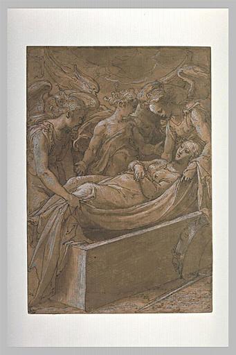 Sainte Catherine d'Alexandrie ensevelie par les anges