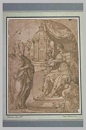 Comparution de saint Ambroise devant l'Empereur Théodose