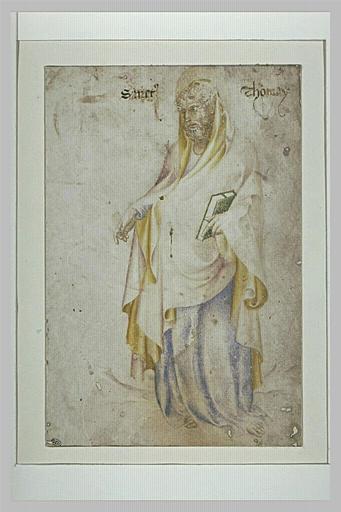 Saint Thomas, debout, tenant un livre dans la main gauche