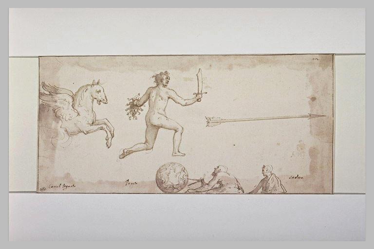 Constellation de Pégase et de Persée