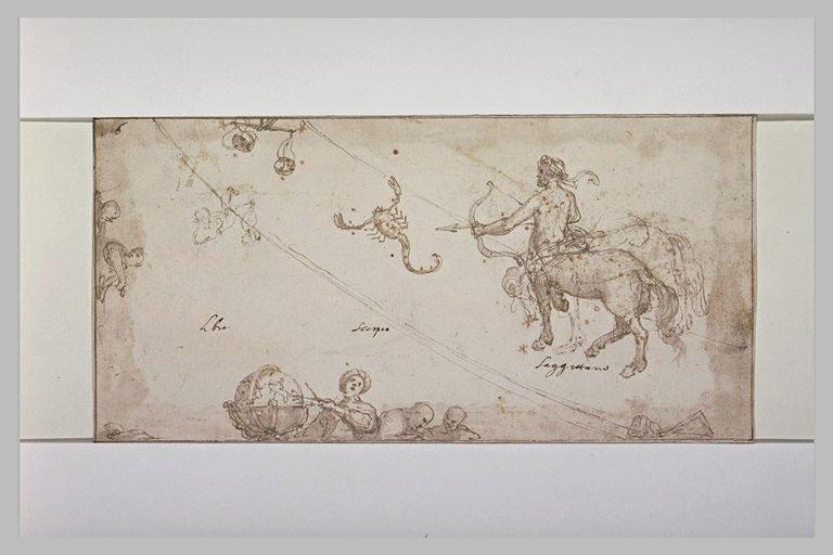 Constellation du Scorpion, du Sagittaire et de la Balance