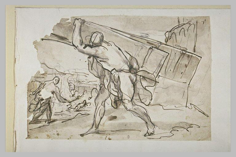Samson enlevant les portes de Gaza