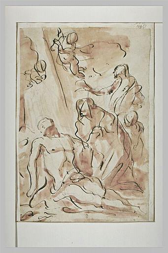 Le Christ au pied de la croix