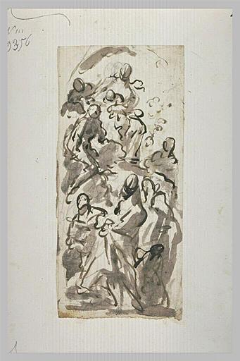 Vierge à l'Enfant, entourée de saints