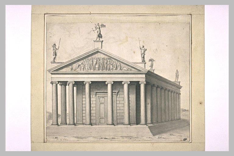 Un temple d'ordre ionique à colonnes_0