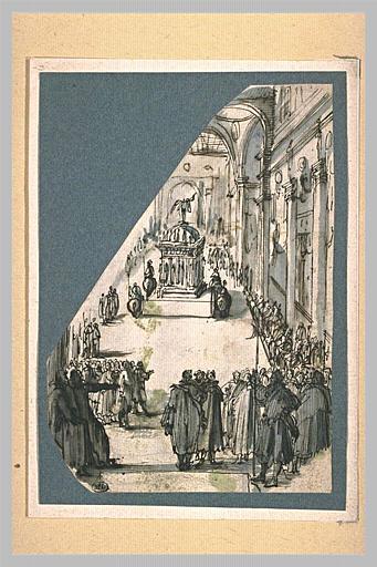 LECLERC Sébastien I : Cérémonie religieuse dans une église