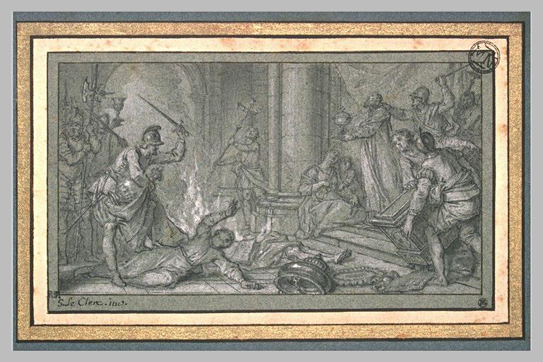 LECLERC Sebastien II : L'église de Saint Martin de Tours dépouillée par les calvinistes