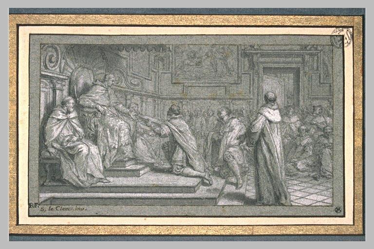 Henri VIII faisant offrir au pape Léon X un ouvrage contre Luther_0