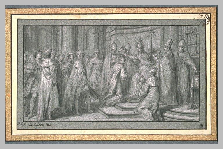 LECLERC Sebastien II : Charles Quint couronné Empereur à Bologne