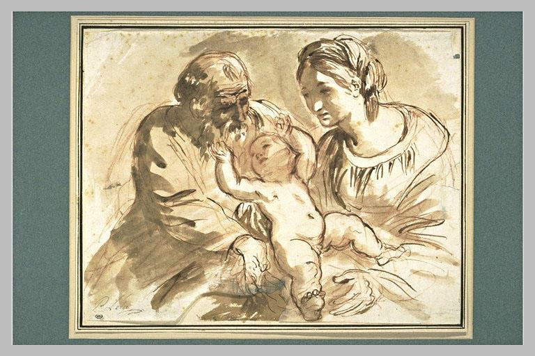 Sainte Famille avec saint Joseph jouant avec l'Enfant_0