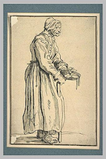 LE NAIN l'un des (d'après), CALLOT Jacques (inspiré par), anonyme : Vieille mendiante