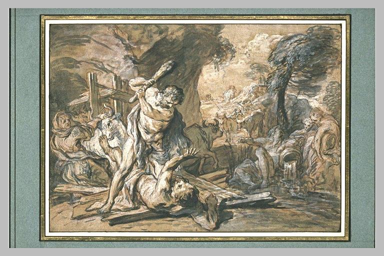 LEMOYNE François : Hercule assommant Cacus