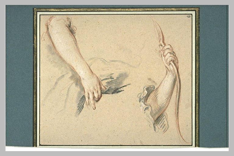LEMOYNE François : Etude de deux bras