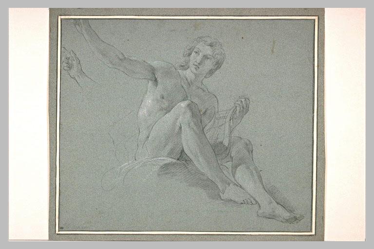 Apollon assis, et reprise de la main droite_0