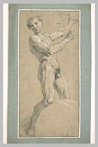 Jeune homme nu, debout_0