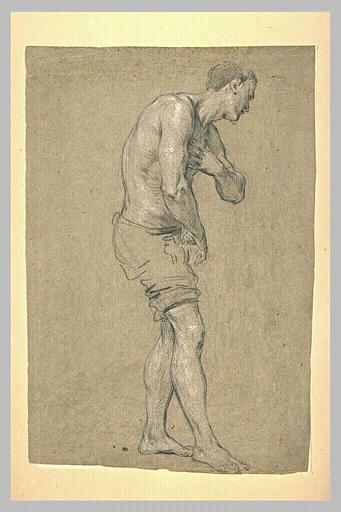 Homme à demi nu, tourné vers la droite