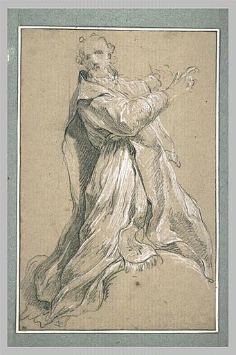 Homme drapé, tourné vers la droite : saint Sulpice