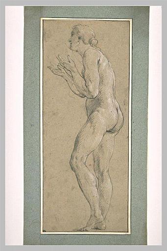 LEMOYNE François : Femme nue, debout, tournée vers la gauche