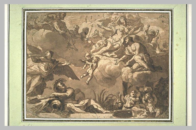 Composition mythologique pour la décoration d'un plafond_0