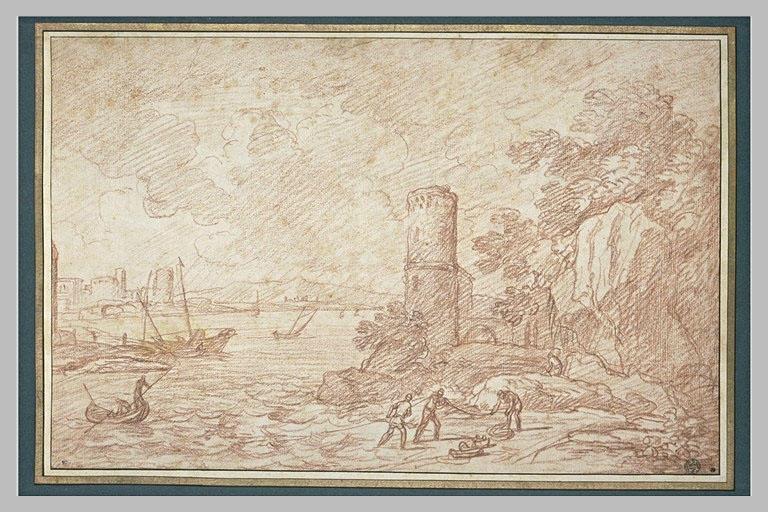 Paysage sur le bord de la mer