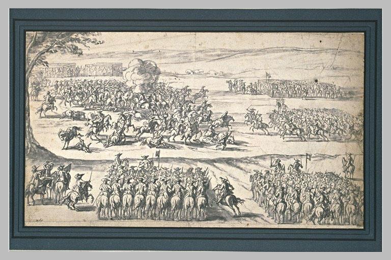 Bataille avec des escadrons ou pelotons de cavalerie