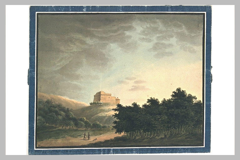 Paysage avec une forteresse