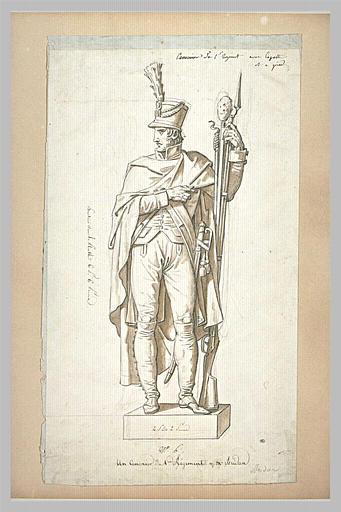 Statue d'un canonnier du premier régiment, d'après Bridan