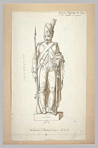 Statue d'un grenadier d'infanterie de ligne, d'après Dardet_0