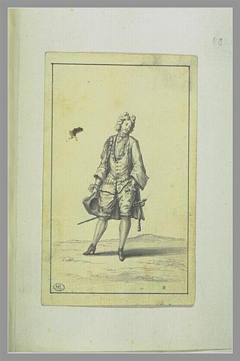Jeune Cavalier, un chapeau à la main