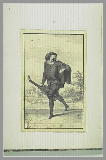 PICART Bernard : Joseph Tortoriti dans le personnage de Scaramouche napolitain