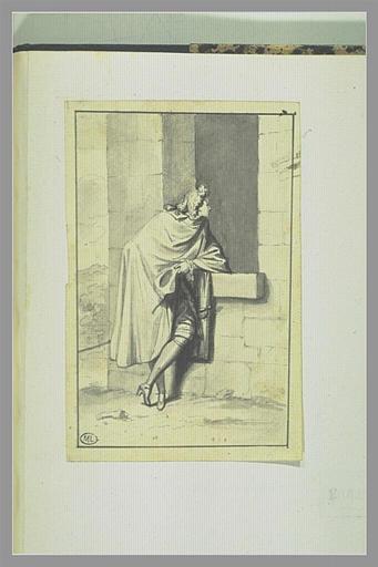Jeune Homme en manteau parlant à une fenêtre_0