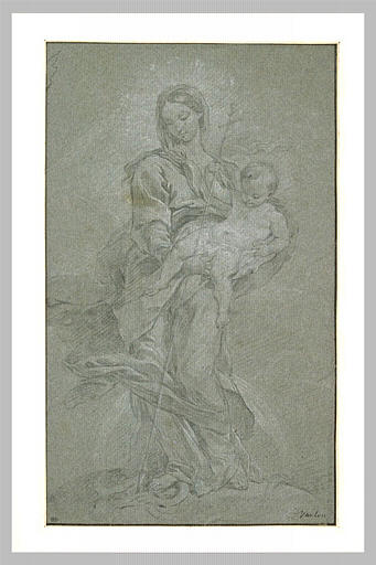 Vierge à l'Enfant écrasant le serpent_0