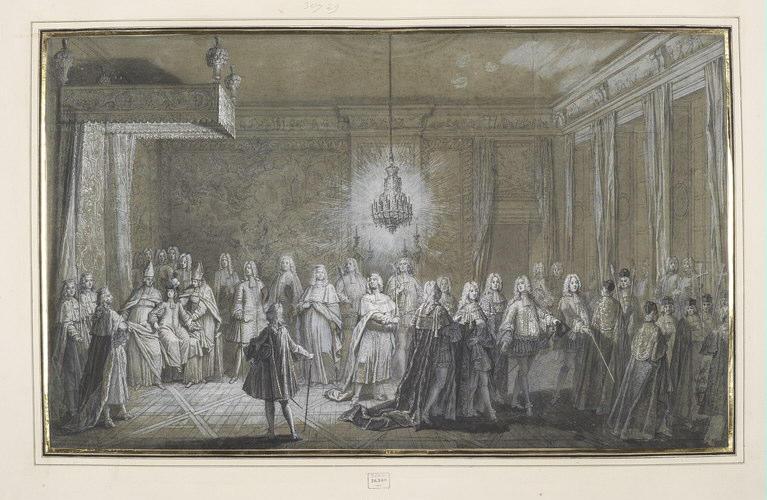 Le lever du roi Louis XV, pour son sacre_0