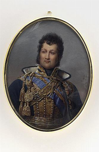 JACQUES Nicolas : Buste de Louis Philippe en uniforme de colonel de hussards