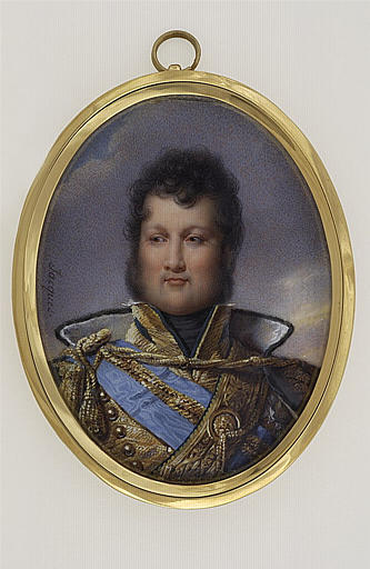 Buste de Louis Philippe en uniforme de colonel de hussards