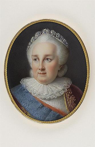 JAQUOTOT Marie Victoire, VIGEE-LE BRUN Elisabeth Louise (inspiré par) : Portrait de Catherine II d'après Mme Vigée-Lebrun