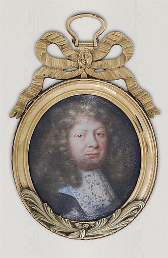 PETITOT Jean le Vieux, MIGNARD Pierre (d'après) : Portrait de Marie Balthazar Phélippeaux, marquis de Château neuf