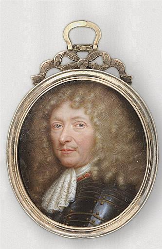 PETITOT Jean le Vieux : Portrait présumé de maréchal de Catinat