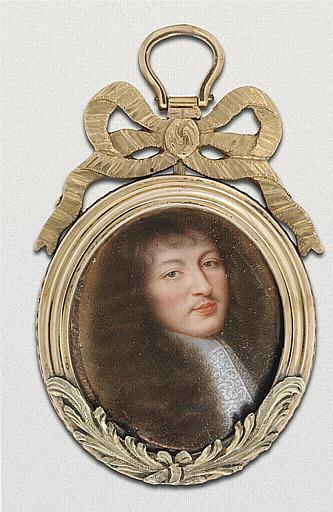 Portrait de Louis XIV, jeune avec de longs cheveux
