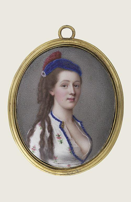 Portrait de jeune femme en costume circassien_0