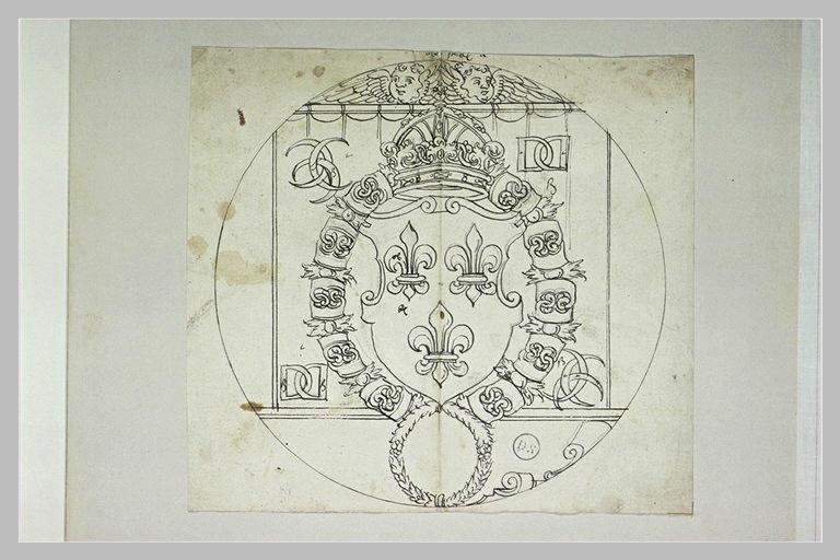 Vitrail : armes d'Henri II, roi de France