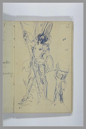 Etudes pour un groupe sculpté : saint Georges combattant le dragon
