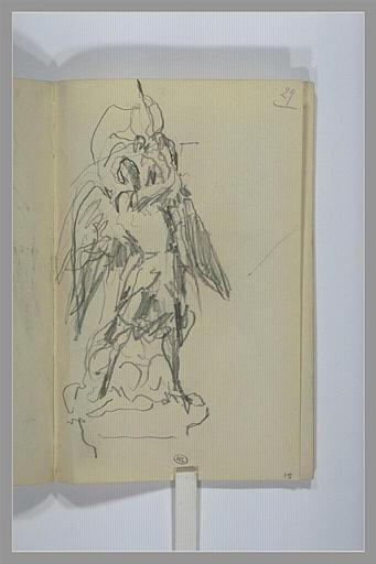 CHAPU Henri Michel Antoine : Etude pour un groupe sculpté