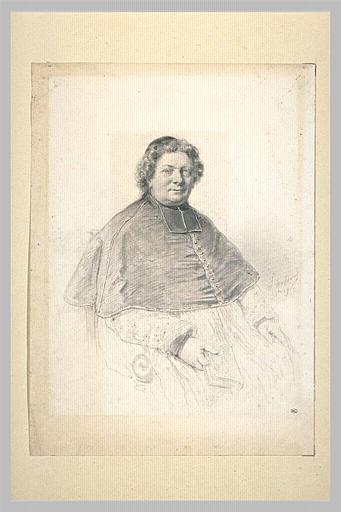 Portrait d'un évêque, assis, tenant un livre de la main droite_0