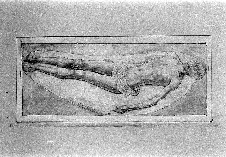 Etude pour un Christ mort, étendu sur le dos