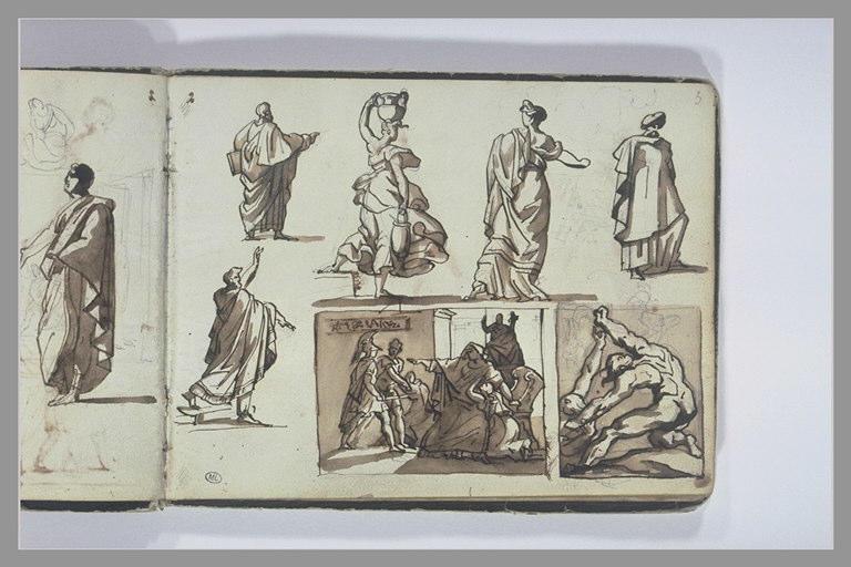 GERICAULT Théodore : Etudes de figures et de compositions d'après l'antique