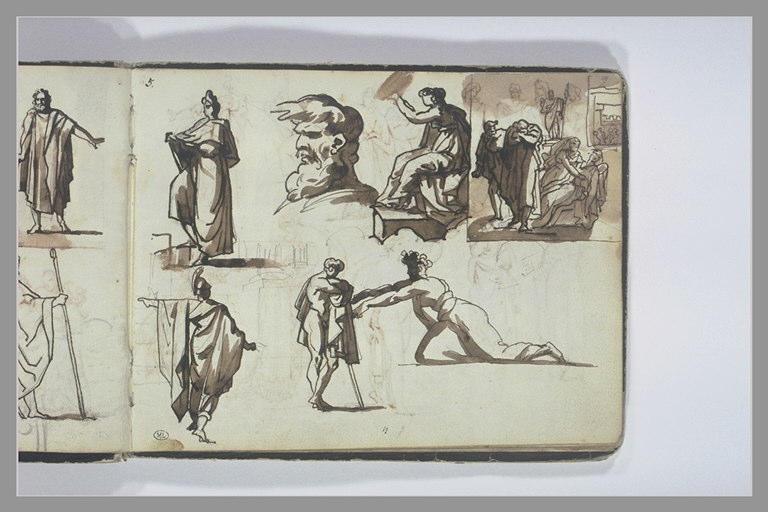 Etudes de figures et de composition d'après l'antique_0